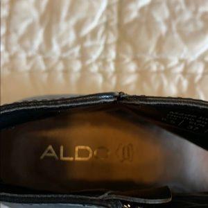 Aldo Shoes - Aldo black leather open toe boot. Size 61/2